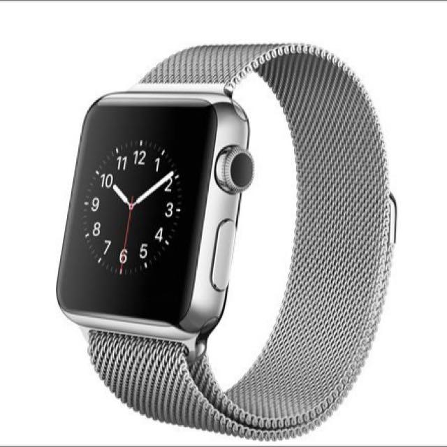 (保留)全新下殺!!Apple Watch 42mm 不鏽鋼 米蘭式環