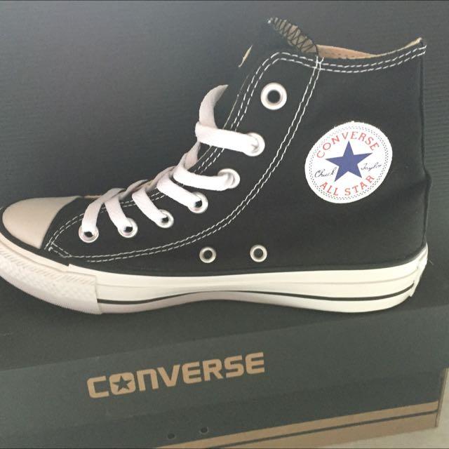 新Converse基本款高筒黑色23