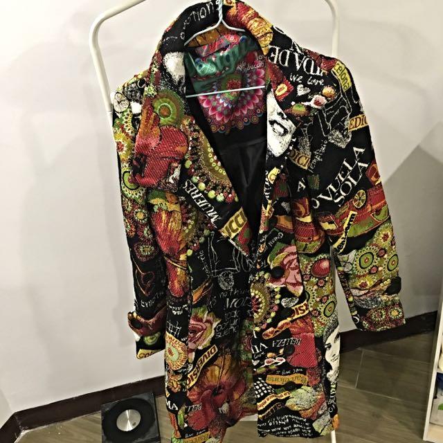 近全新西班牙「Desigual」限量版大衣