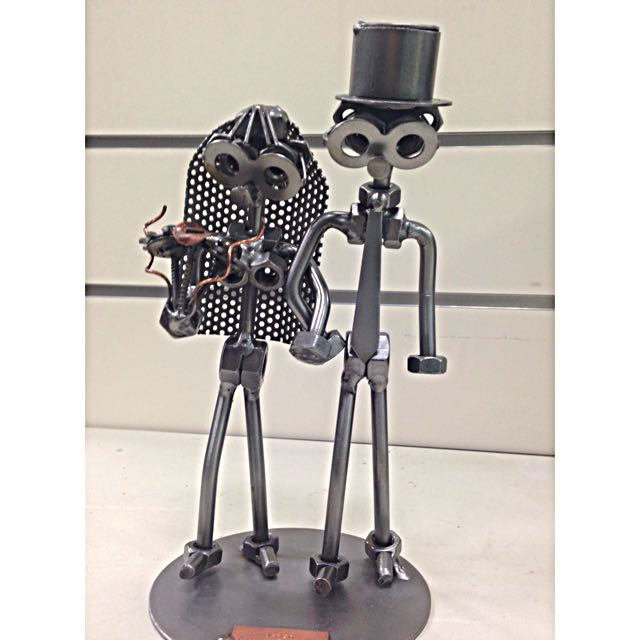 Hinz-Kunst-Chef-Metal-Sculpture-German-