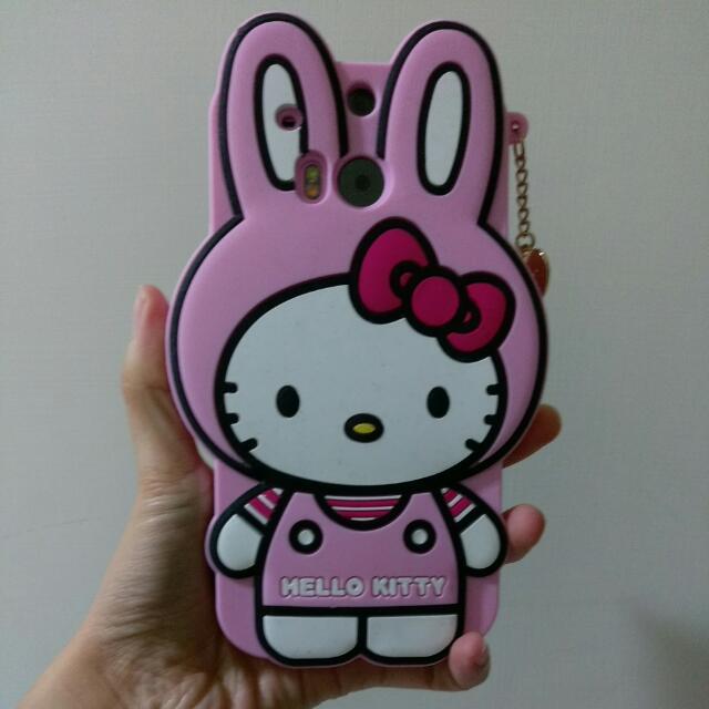 HTC M8 手機殼 Hello Kitty 兔子 兔兔裝扮