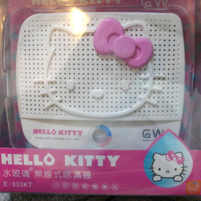 插電式水玻璃kitty除濕機 (全新品)