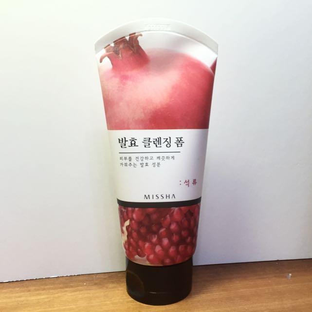 MISSHA 天然發酵紅石榴潔顏乳/全新