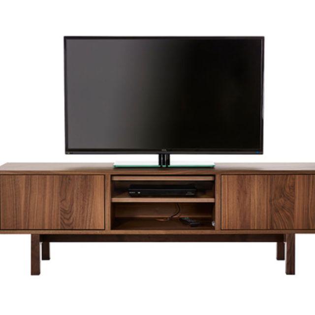 tv bench stockholm tv bench walnut veneer furniture on