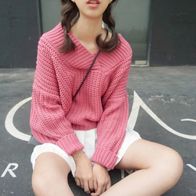 🔺五色🔺V型領毛衣