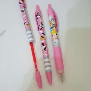 日本授權正版 紅筆迪士尼系列  米奇 米妮 Ysum Tsum disney  粉紅