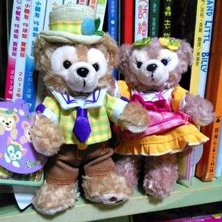(免運)全新絕版日本迪士尼春季站款達菲&雪莉玫