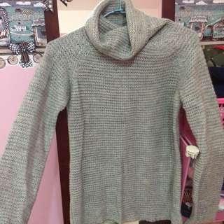 高領針織衣(灰)
