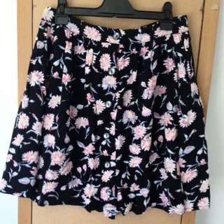 MINKPINK Floral Button Up Skirt