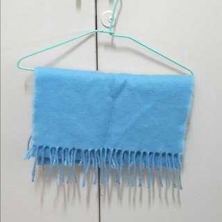 水藍色 圍巾 接受換物