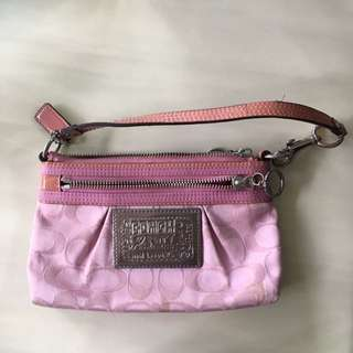 AUTHENTIC coach Poppy Small Pouch/bag