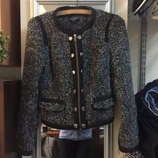 Black & Grey Knitted Military Jacket!