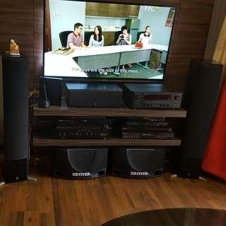 Yamaha Speaker System With AV Reciever