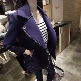 太空棉 短款 短外套  大翻領 夾克