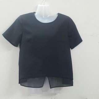 P&co Size L Black Boxy Shirt