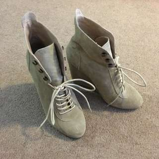 Ankle High Suede Boots