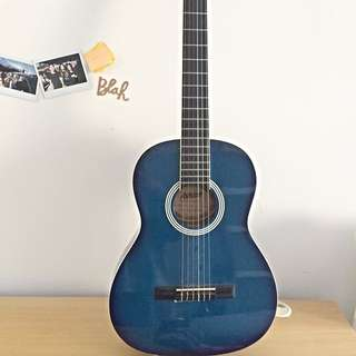 Small Blue Vintage Guitar
