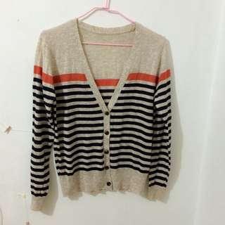 Lulu's 條紋 針織 毛衣 外套
