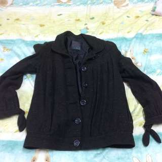 Gozo黑混雜色外套