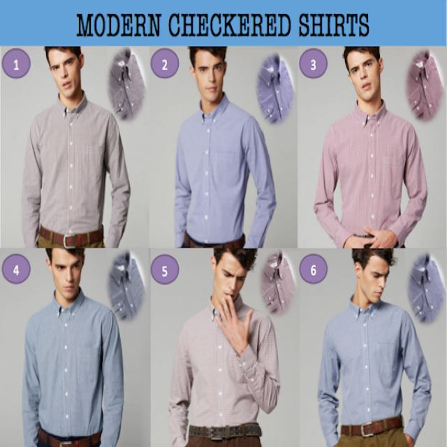 2016 Modern Stylish Checkered Casual Shirt For Him Business Office
