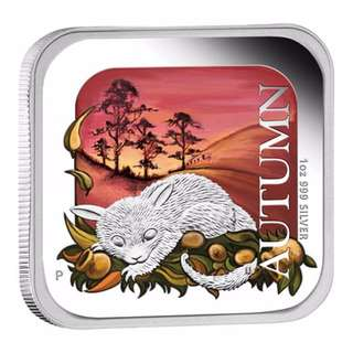 Australian Seasons – Autumn 2013 1oz Silver Proof Square Coin
