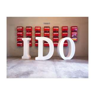 For RENT: 3D Lettering - I DO