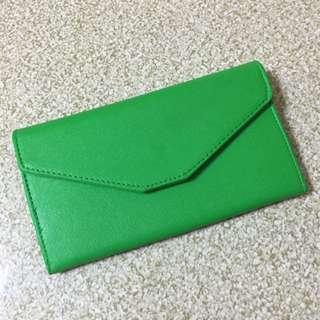 綠色護照夾 長夾