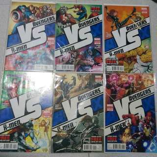 Marvel Comics Avengers VS X-Men AvX VS #1-6