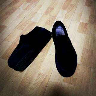 VANS黑色懶人鞋自加3公分後底