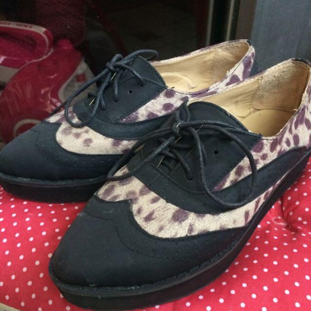 豹紋厚底鞋*二手-37號