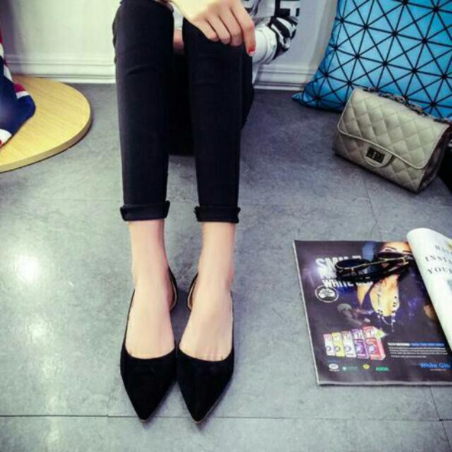 平底單鞋-黑色38