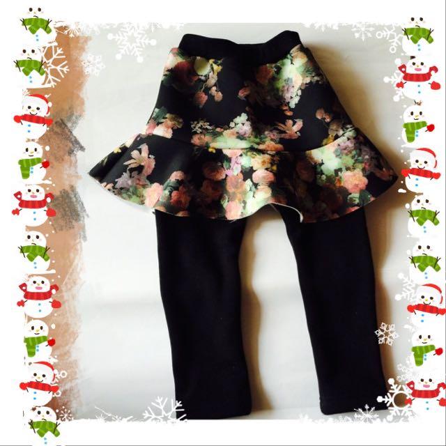 全新內刷毛假兩件褲裙(7號)