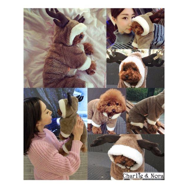 【預購】M麋鹿變身裝寵物包暖衣