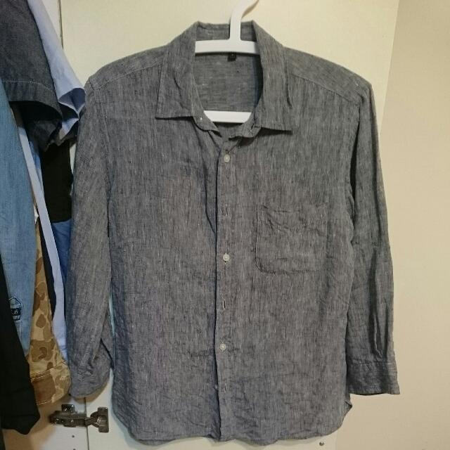 無印良品 100%亞麻材質襯衫