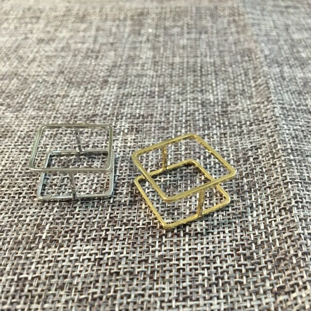 金色正方形方塊極簡線條戒指