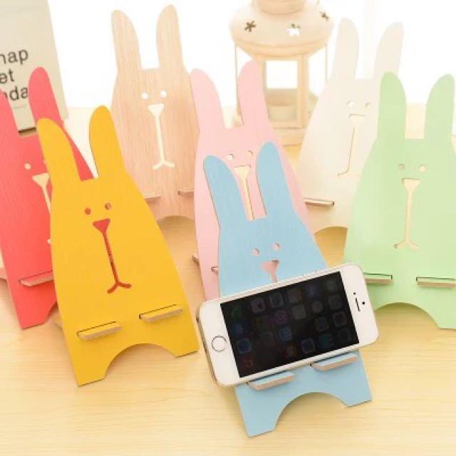 🐰兔子木質手機支架📱