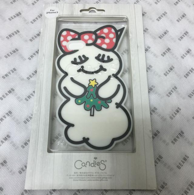日本設計 Candies iPhone 5s/5c SE 雲寶寶 蝴蝶結 聖誕限定 矽膠保護套