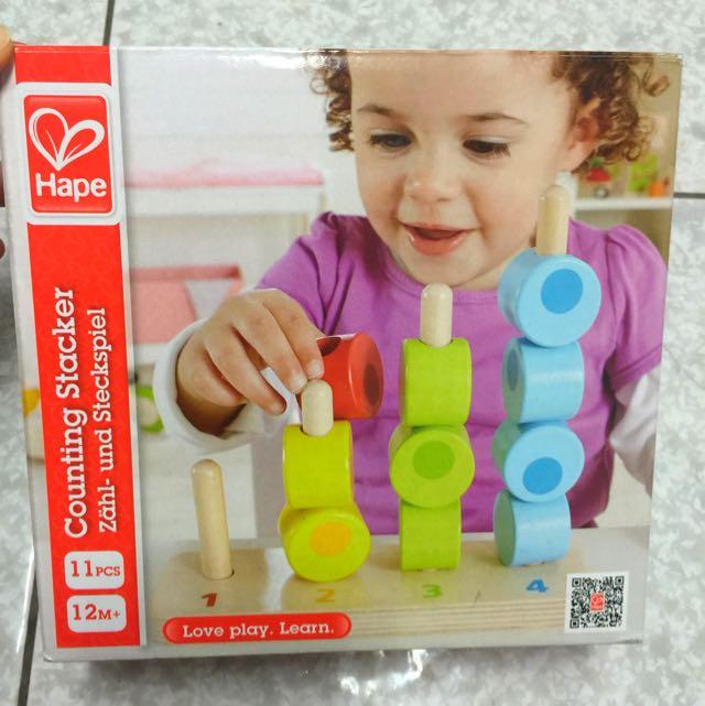 [全新]德國 HAPE 無毒 木頭 疊疊樂 玩具