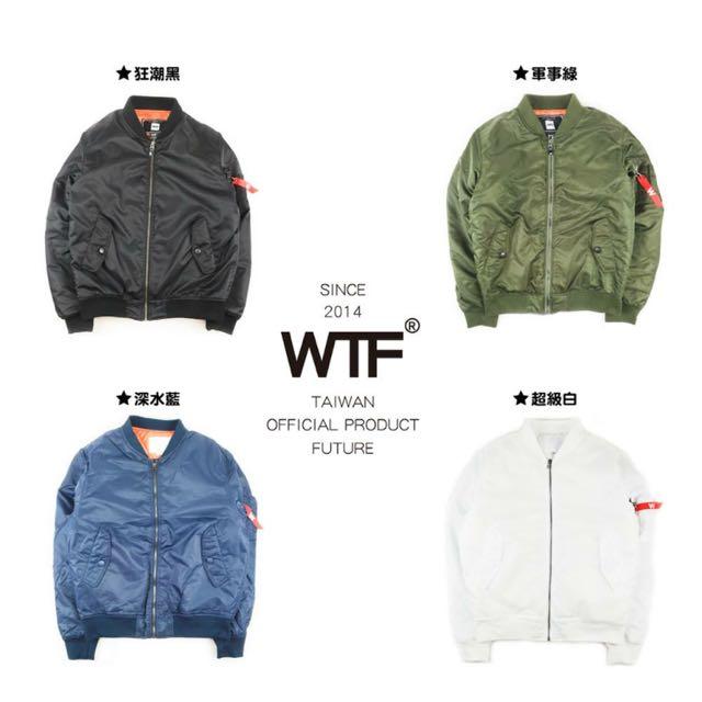 轉賣 WTF MA-1 軍綠 飛行外套(急售)