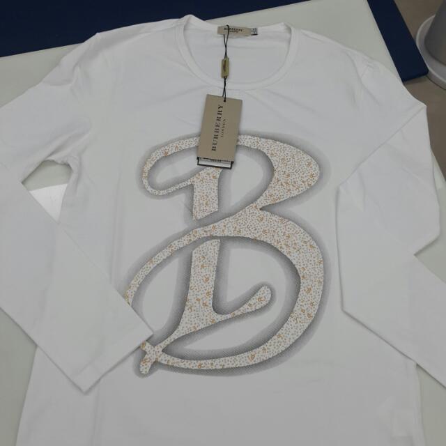 BURBERRY全新白色棉T