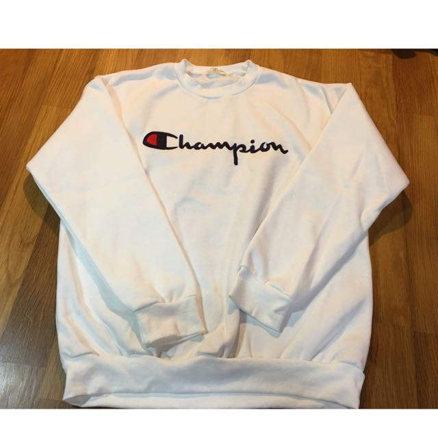 正韓Champion刷毛大學T