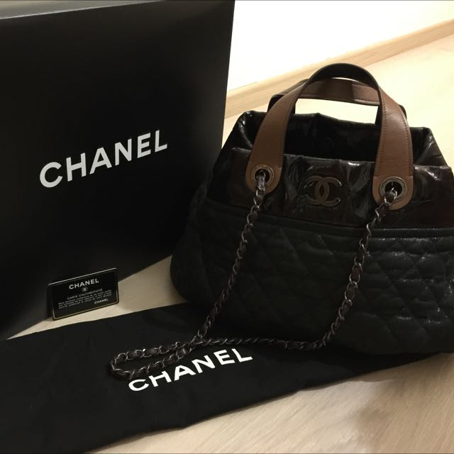 fe7aaed46c879d Chanel In The Mix Tote Bag Small, Luxury, Bags & Wallets on Carousell
