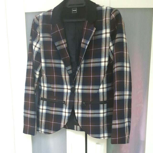 Checkered/plaid Blazer