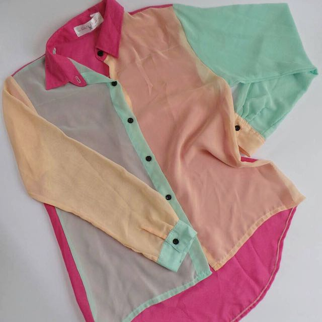 Color-blocked Top