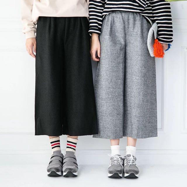|daydream|毛呢九分寬褲/2色(C0022)