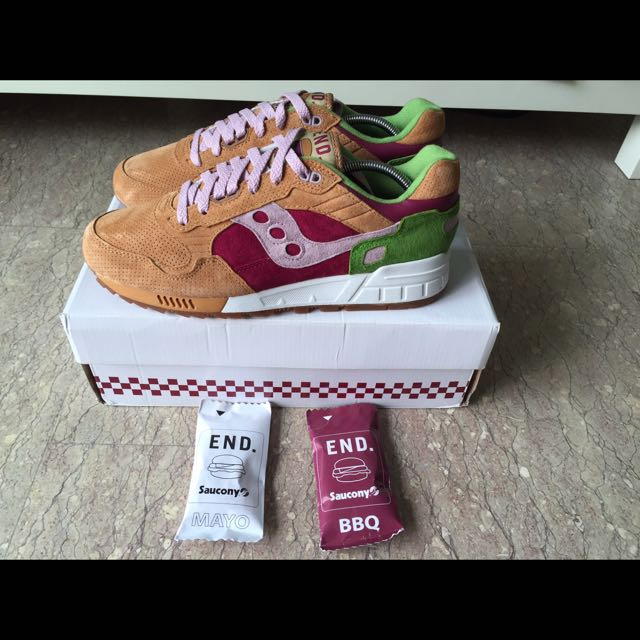 detailed look a119d 6bbfc For Sale: End x Saucony Shadow 5000 Burger, Men's Fashion on ...