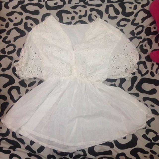 全新Hannah款白綿麻小洋裝
