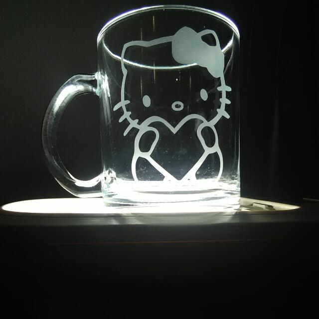 Hello kitty custom coffee mugs Valentine's Gifts Presents almost any image u want Etchings Engravings