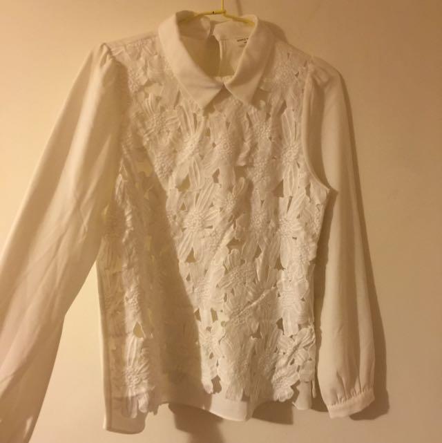 Meier Q 超美 氣質 蕾絲 襯衫