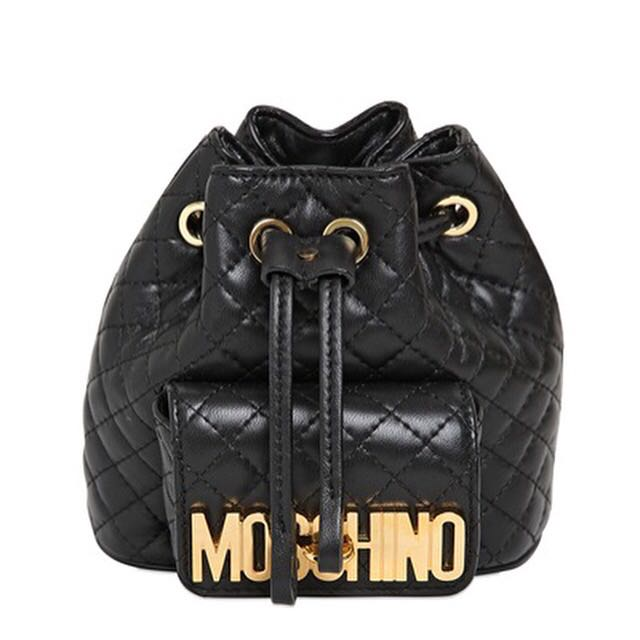 elegant and graceful rich and magnificent high quality materials Moschino mini quilted leather backpack, Luxury on Carousell